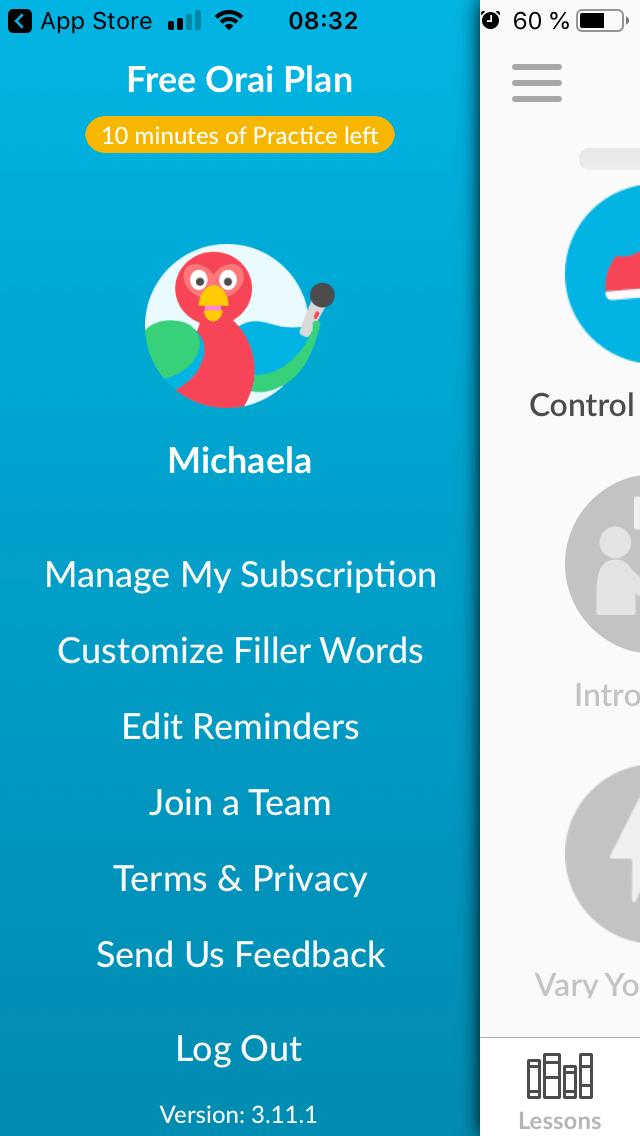 Orai App bietet eine kostenlose Version