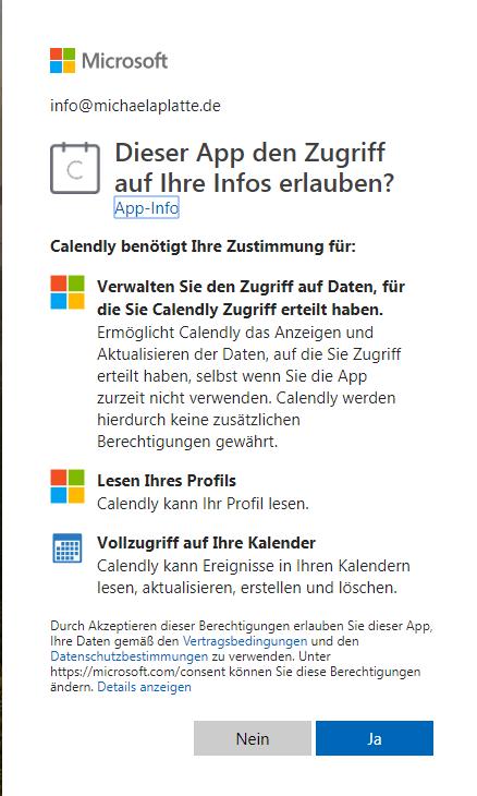 Beschreibung Verbindung Outlook Kalender