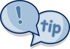 zwei Sprechblasen als Ankündigung eines Tipps