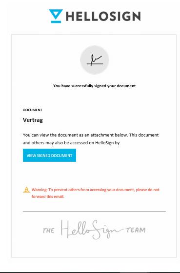 digitale Unterschrift HelloSign