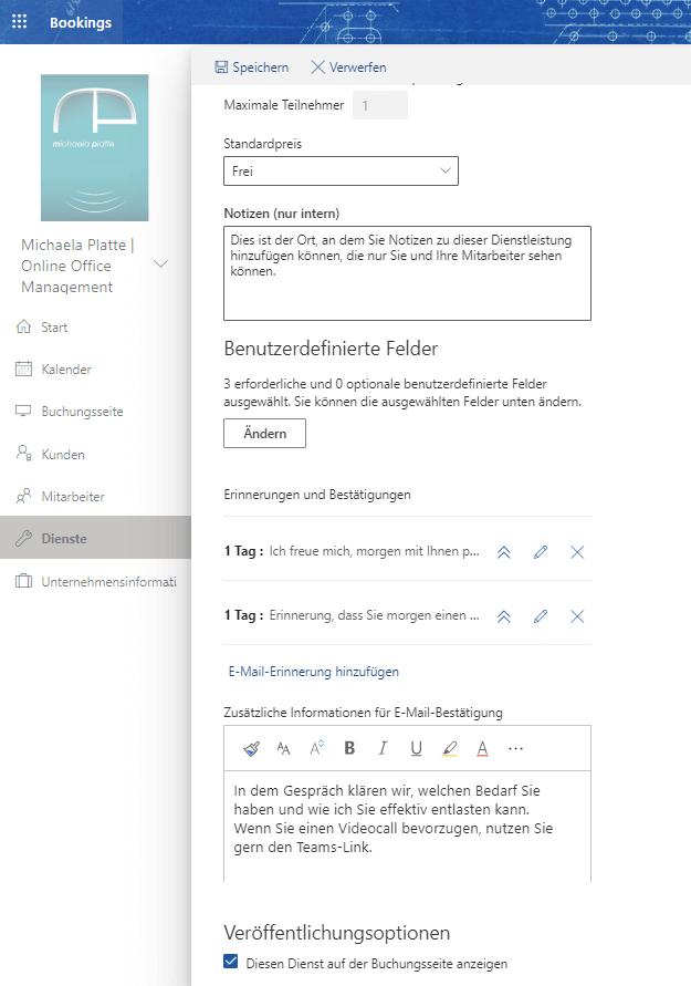 Termine online planen mit MS Bookings - virtuelle Assistenz