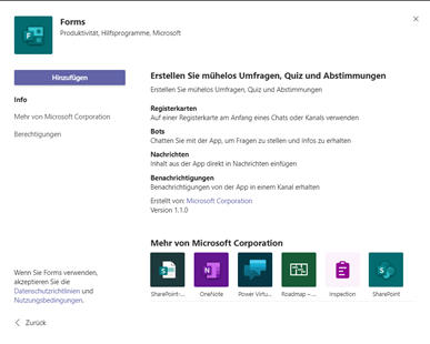 MS Forms App
