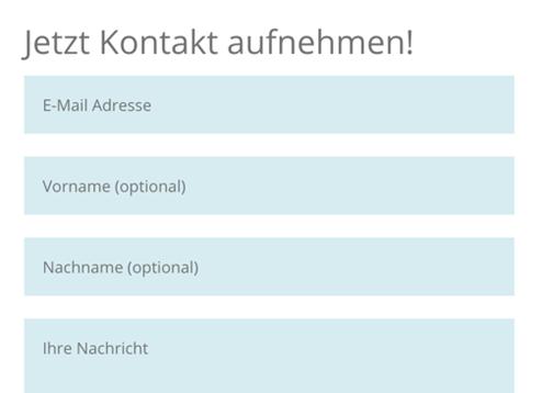 Kontaktformular datenschutzkonform