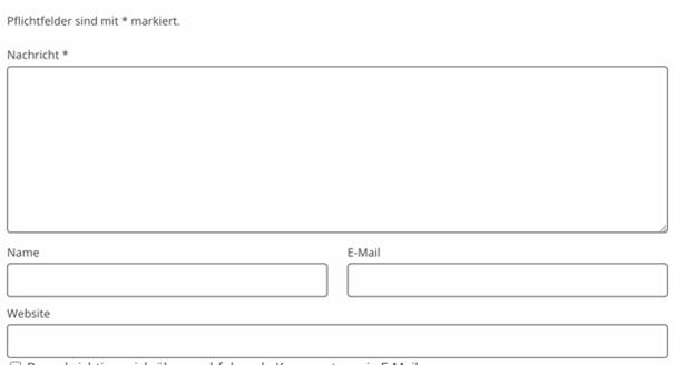 Kontaktformular DSGVO